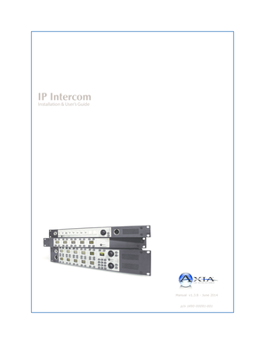 IP-Intercom System User Guide v138 - The Telos Alliance