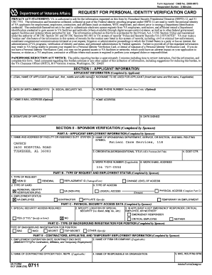 VA Form 0711 - Central Alabama Veterans Health Care System