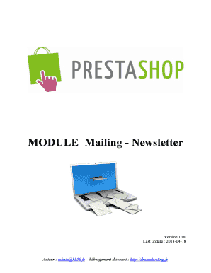 MODULE Mailing - Newsletter - Boutique Echecs