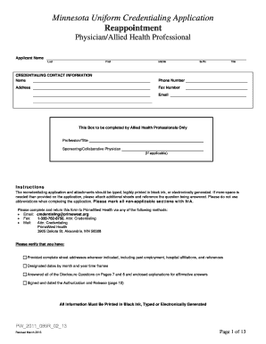 minnesota uniform credentialing application Editable business continuity training plan - Fill Out Best Business ...