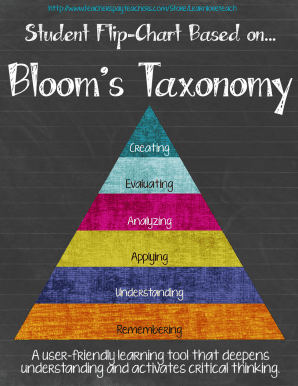 Blooms Taxonomy Flip Chart for Student Usepdf