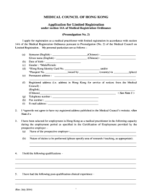 Medical certificate of good health form edit online fill print application for limited registration under section 14a of medical medical certificate of good health yelopaper Gallery