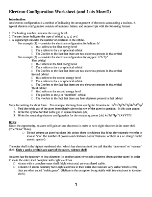 Fillable Online wolgemuthe psd401 Electron Configuration Worksheet ...