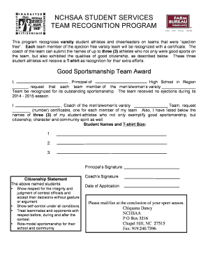 recognition award wording examples for students - Edit