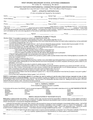 sports physical form 2019  Cabell County Sports Physical Form - Fill Online, Printable ...