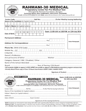 Rahmani 30 Online Application Form 2017 - Fill Online, Printable ...