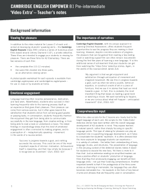 Cambridge English Empower A2 Pdf - Fill Online, Printable