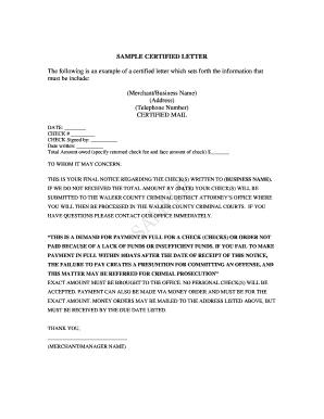 Editable sample demand letter for money owed fill out print sample demand letter for money owed sample certified letter walker county altavistaventures Images