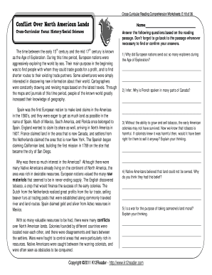 5th Grade Reading Comprehension Worksheets - Fill Online ...