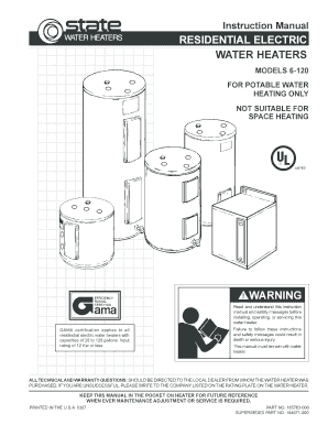 state electric water heater wiring diagram fillable online state residential electric 6 119 185763 000  residential electric 6 119 185763 000
