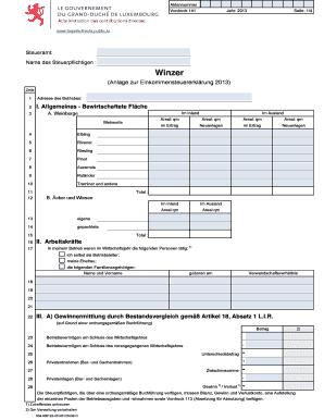 Fillable Online Winzer - Administration des contributions directes ...