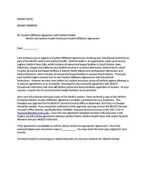 Fillable Online Sanford Health With Cover Letter