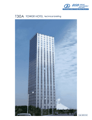 T30A TOWER HOTEL technical briefing - Green Industry Platform