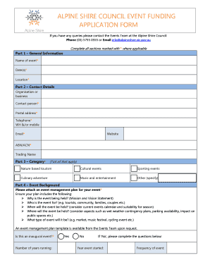 Event Funding Application Form 2015-16 - Alpine Shire - alpineshire vic gov