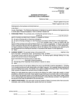 14 Printable Purchase And Sale Agreement Washington State