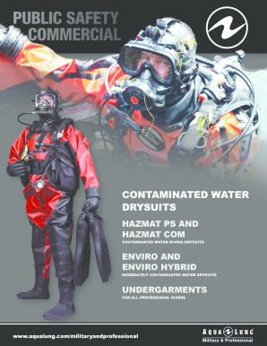 CONTAMINATED WATER DRYSUITS - Aqua Lung