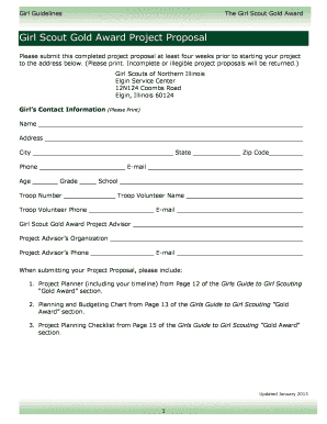 Proposal Form - Girl Scouts of Northern Illinois