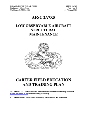 Afsc 2a7x5 career field education and training plan - navycooldevcom