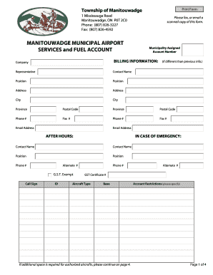 Service Agreement Template Pdf. MANITOUWADGE MUNICIPAL AIRPORT SERVICES And  FUEL