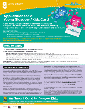 Application for a Young Glasgow Kidz Card - Glasgow Life
