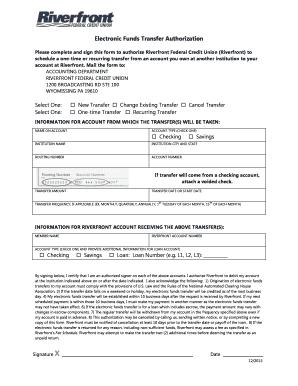 fillable online riverfrontfcu ach recurring payment authorization form variable amount riverfrontfcu fax email print pdffiller
