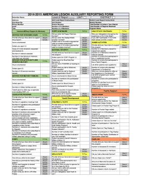 2014-b2015b AMERICAN LEGION AUXILIARY REPORTING bFORMb