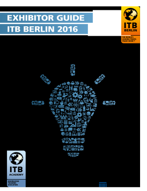 EXHIBITOR GUIDE ITB BERLIN 2016