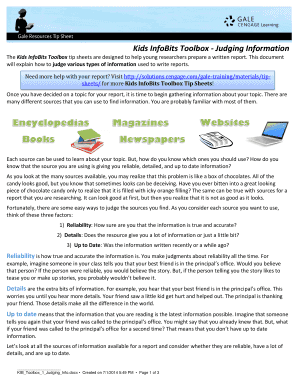 Kids InfoBits Toolbox - Judging Information - Cengage Learning