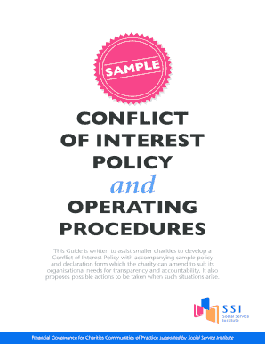 conflict of interest policy template charity the best interest 2018 conflict interest policy template charity photos