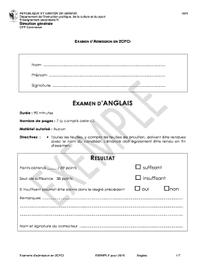 Fillable Online 52 Ec 2cfci Exemple Anglais 2e Cfci2015 Fax