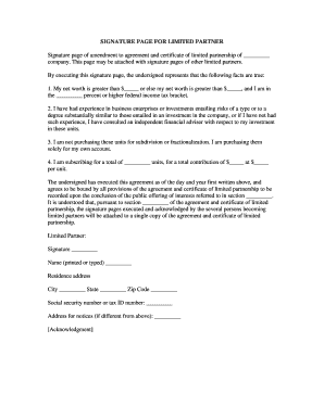 limited partnership agreement template