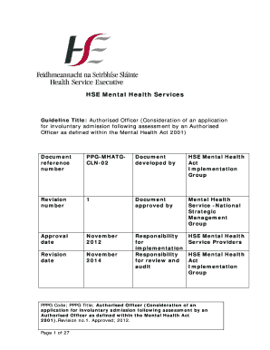 Fillable Online Iasw Hse Authorised Officer Irish Association Of Social Workers Iasw Fax Email Print Pdffiller