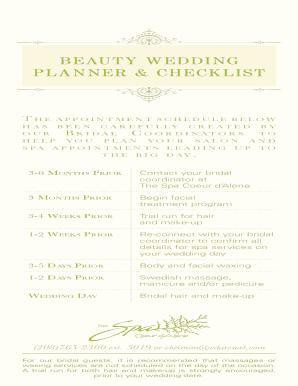 Wedding Checklist Pdf.Printable Wedding Planner Checklist Pdf Form Samples To Submit