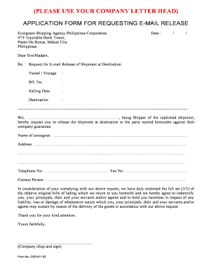 18 Printable application for release letter Forms and ...