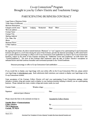 Business contract - CoServcom