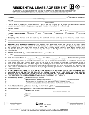 ARIZONA ASSOCIATION OF REALTORS TENANT ATTACHMENT This attachment should be given to the Tenant prior to the submission of any offer and is not a part of the Residential Lease Agreement 's terms