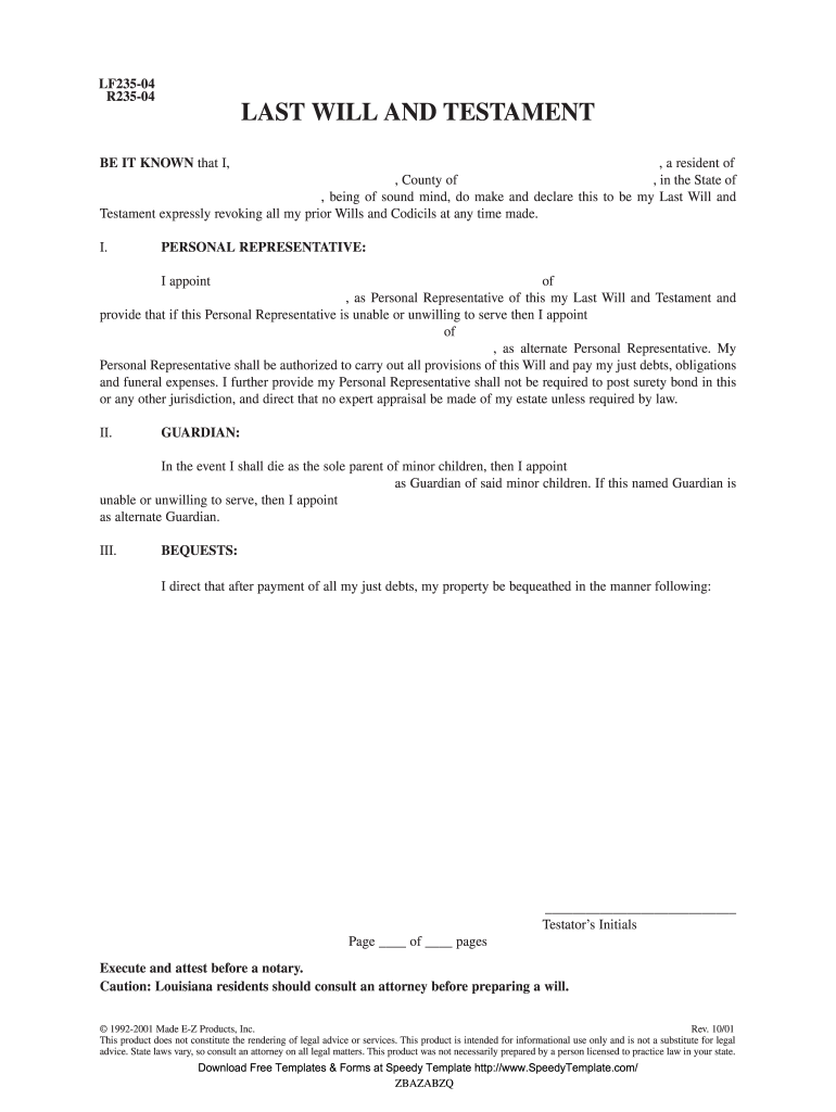 Ez Legal Forms A235 10 R235 04 Fill And Sign Printable Template Online Us Legal Forms