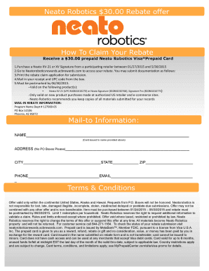 Neato Robotics 3000 Rebate offer How To Claim Your - JCPenney
