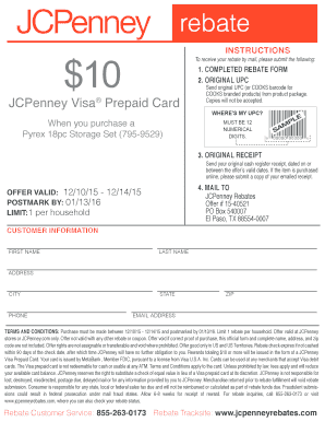 jcpenney mail in rebate form 2018