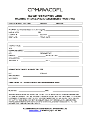 Request for invitation letter cpma convention trade show fill preview of sample expiry stopboris Images