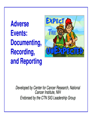 Adverse Events Documenting Recording And