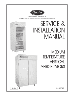 SERVICE INSTALLATION MANUAL - Heritage Parts - icemeister