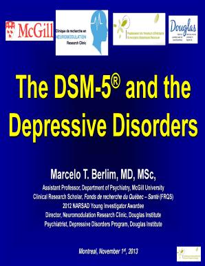 depressive disorder dsm 5 - Edit Online, Fill Out ...