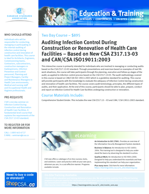 Fillable Online csagroup Auditing Infection Control During