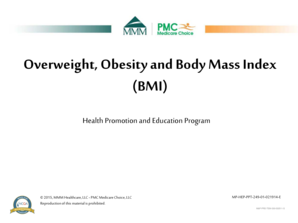 Overweight Obesity and Body Mass Index BMI