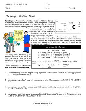 Average Atomic Mass   Evan39s Regents Chemistry Corner. PERIODIC TABLE ...