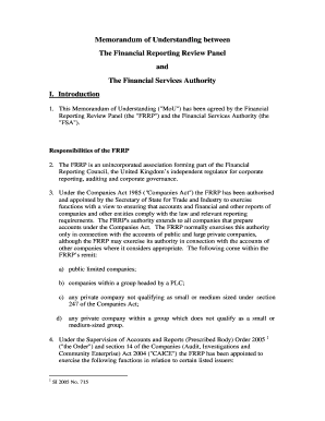 Fillable memorandum of understanding legally binding uk edit memorandum of understanding with the financial services authority pronofoot35fo Image collections