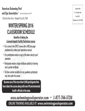 Fillable Online Printable Flyer American Swimming Pool And Spa Association Fax Email Print