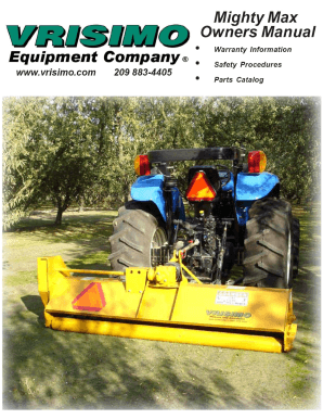 fillable online mighty max manual vrisimo fax email print pdffiller rh pdffiller com Used Tractor Mowers Small Side Mowers for Tractors