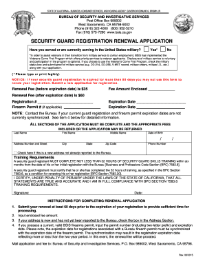 application for employment as a security officer